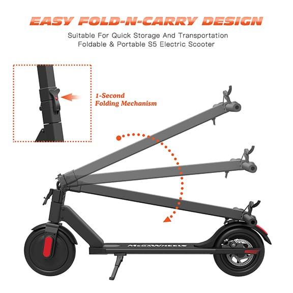 Electric Scooter for Adult - Fold and Carry Design