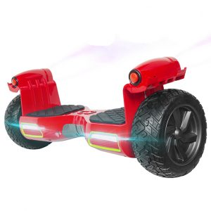 Off road hoverboard with LED lights