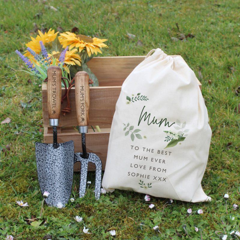 Personalised Floral Gardening Tool Set