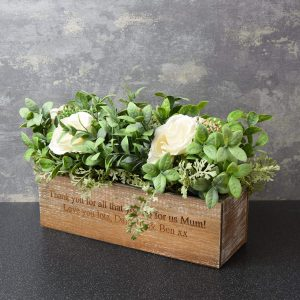 Personalised Artificial Flower Box - Personalised Mother's Day Gift Ideas