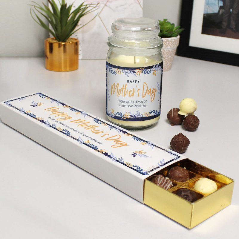 Personalised Candle Jars and Truffles - Happy Mother's Day