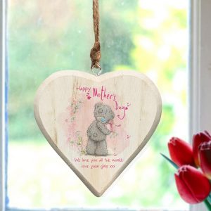 Me To You Mothers Day Wooden Hanging Heart - Personalised Mother's Day Gift Ideas