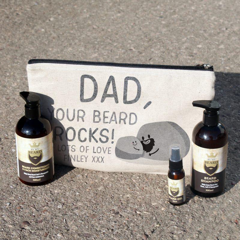 Personalised Beard Kits - Dad Your Beard Rocks