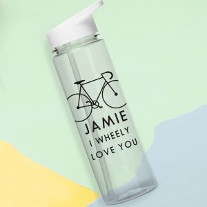 Personalised Drink Bottles - I Wheeley Love You