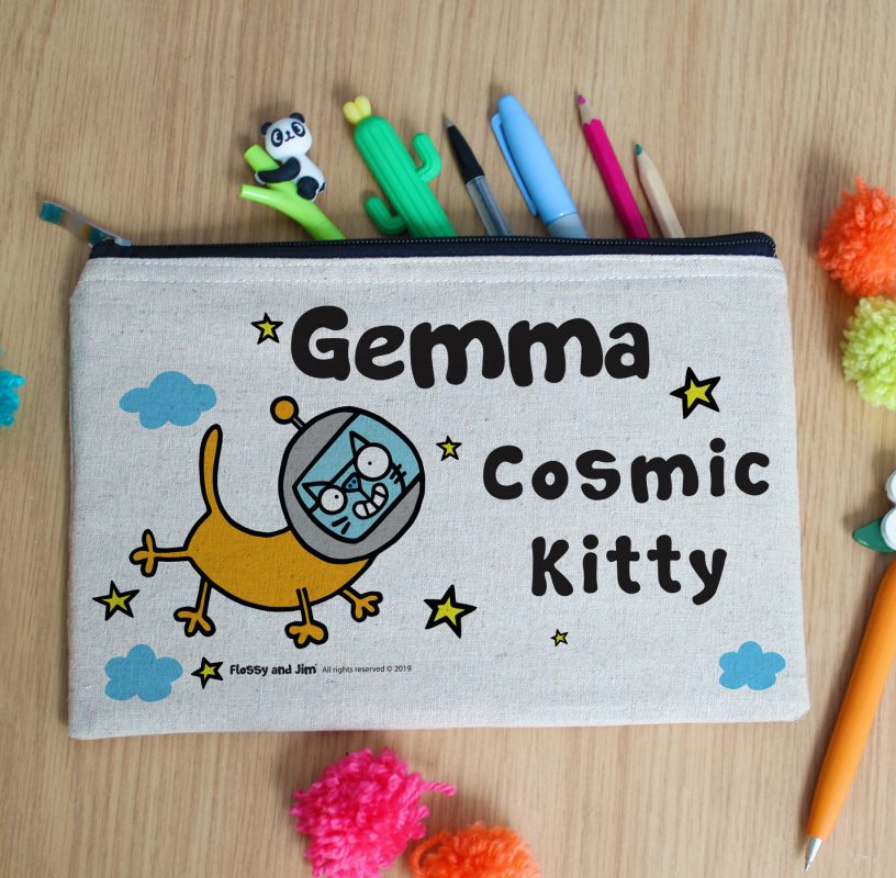 Personalised pencil cases is one of our favourite back to school essentials.