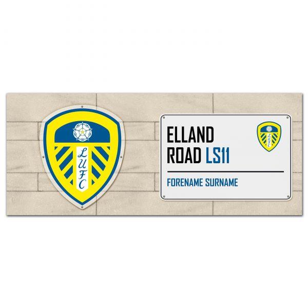 Leeds United FC Street Sign