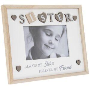 "Sister Photo Frame 4x6"" Shabby Chic"