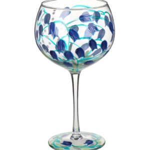 Blue Bells Balloon Glass