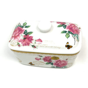 Floral Butter Dish