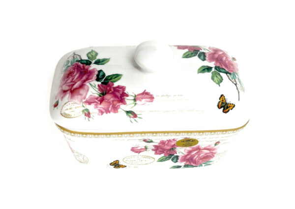 Redoute Rose Butter Dish