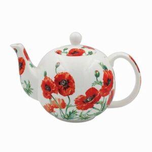 Floral Teapot Wild Poppy