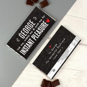 Personalised Instant Pleasure Milk Chocolate Bar
