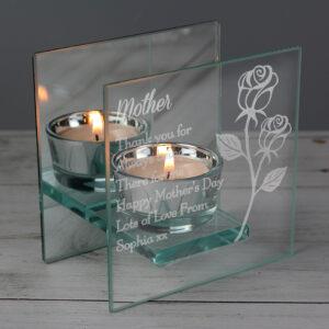 Engraved Tea Light Holders