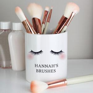 Personalised Makeup Brush Storage