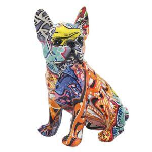 Graffiti Bulldog Figurine l Ornament l Statue - I Want To Buy A Gift